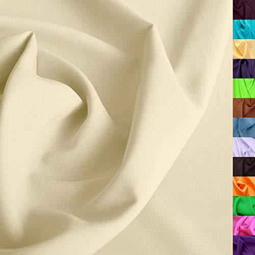 TOLKO Modestoff | Dekostoff universal Stoff zum Nähen Dekorieren | Blickdicht, knitterarm | 150cm breit Meterware (Beige) Bekleidungsstoffe Dekostoffe Vorhangstoffe Nähstoffe Basteln Patchwork Deko