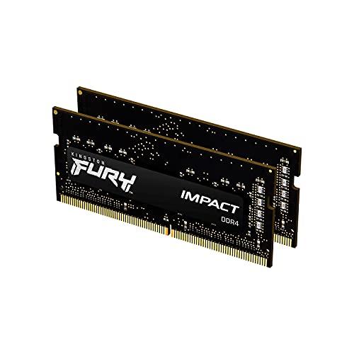 Kingston FURY Impact 32GB 2x16Go 2666MHz DDR4 CL16 Mémoire d'ordinateur Portable Kit de 2 KF426S16IBK2/32