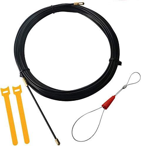 RUNCCI-YUN 15m Guia Pasacables, Kit de Enhebrado de Cables, Electricistas Alambre Threading Dispositivo, Enhebrador de Alambre Electrico