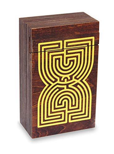 Logica Spiele Art. Labyrinth Puzzle Box - Geheimschachtel - Schwierigkeit 5/6 Unglaublich - Geschenkbox - Denkspiel aus Holz - Knobelspiel - Geduldspiel - Leonardo da Vinci Kollektion