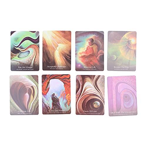 Tarot Cards, 45 Tarot Card Deck Juego de cartas de pronóstico del destino Juego de predicción del futuro para principiantes Juego de mesa de cartas de adivinación clásico Regalo para fiestas, viajes