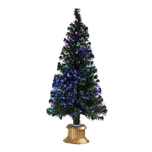 HOLIDAY PEAK 5' Fiber Optic Christmas Tree, Pre-Lit Color Changing, 60-inches Tall