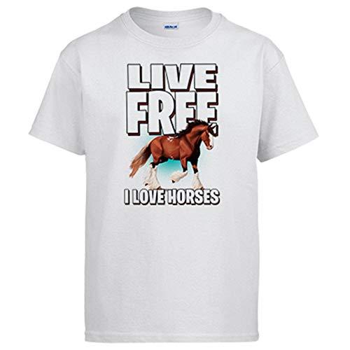 Camiseta Live Free I Love Horses Amante de Caballos