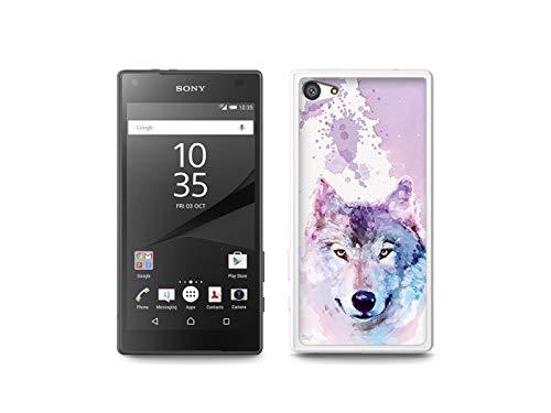 etuo Handyhülle für Sony Xperia Z5 Compact - Hülle, Silikon, Gummi Schutzhülle - Traumwolf