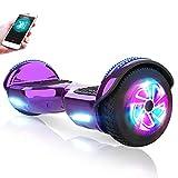 M MEGAWHEELS Hover-Patinete eléctrico Hoverboard, 6.5 Pulgadas con Bluetooth - LED, Velocidad 10-12 Km/h.