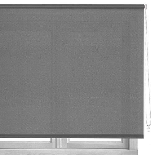 LOLAhome Estor Enrollable de Tela (160 x 250 cm, Gris)