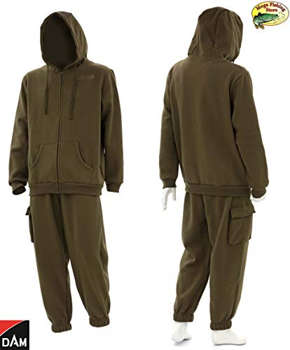 Mad Dam Bivvy Zone Fleece Anzug - Hoodie/Kapuzenpullover + Hose - Outdoor & Angel Fleeceanzug (XXL)
