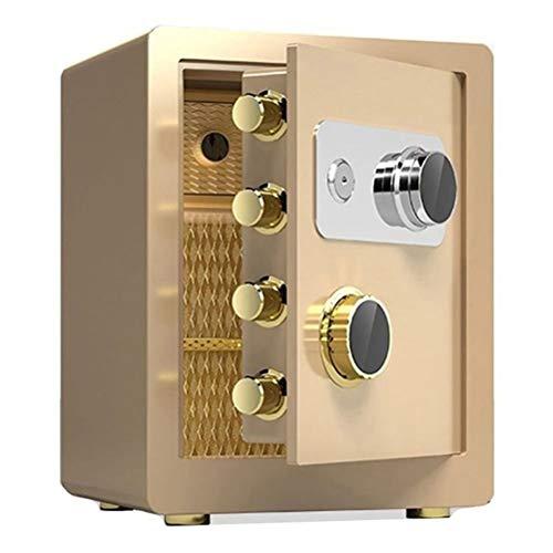 Tresore-SYY Startseite Feuerfester Safe, Großer Stahlsicherheitsschrank, Ablagebox Mechanische Passwort Sicherheit, Hotel/Firma, 3 Größen / 2 Farben (Color : Gold, Size : 45cm)