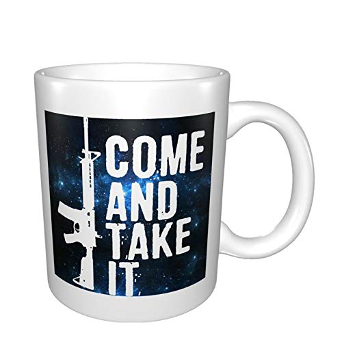 Come And Take It Freedom Shooting Gun Military Cup Unique Coffee Mug Tea Cups Office Ceramics Water Cup Mugs