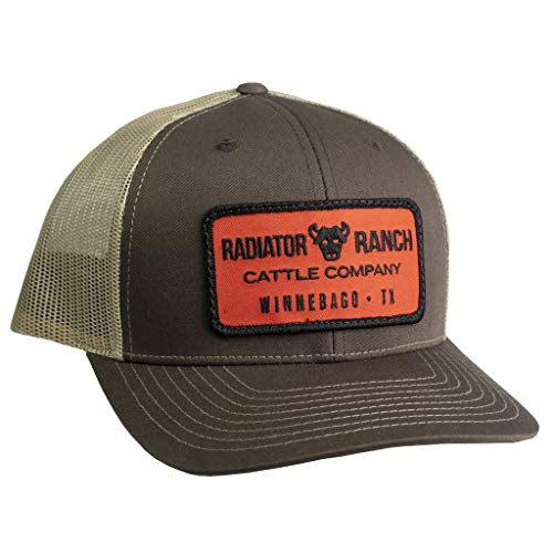 Rodeo Time Cattle Company Cap Brown & Tan Mesh Precurved