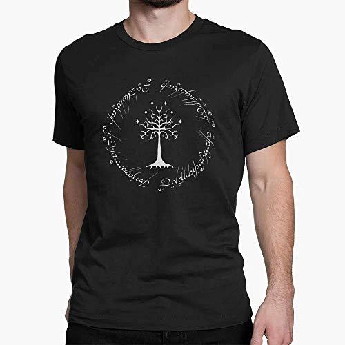 Camiseta Básica Unissex Algodão Árvores de Tolkien Tree Life Vibes Tumblr (Bordô, GG)