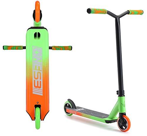 Blunt One S3 Stunt-Scooter H=78cm Park Trick Tret Roller + Fantic26 Sticker (Grün/Orange)