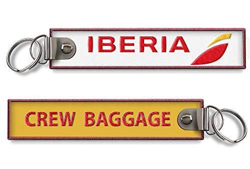 Iberia Crew Baggage - Llavero bordado