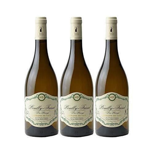 Pouilly-Fuissé Les Plessys Blanc 2018 - Domaine de Savy - Vin AOC Blanc de Bourgogne - Cépage Chardonnay - Lot de 3x75cl