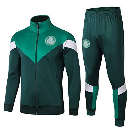 L-YIN Traje entrenamiento de fútbol Club de adulto Camiseta de la Juventud de manga larga y pantalones de jogging BreathableTop QL0257 Traje Chándales (Color : Green, Size : L)