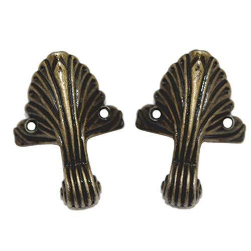 BESPORTBLE Kastenbeine Füße Eckschutz Antiker Vintage Dekorativer Schmuck Geschenkbox Holzkoffer Schreibtisch Stuhl Regal Möbelbeine Zinklegierung Retro 8Cps Bronze