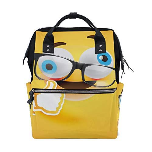 Leuke Emoji Emoticons luiertas rugzak voor mama grote unisex luiertassen babyverzorging reisrugzak outdoor school laptoptas