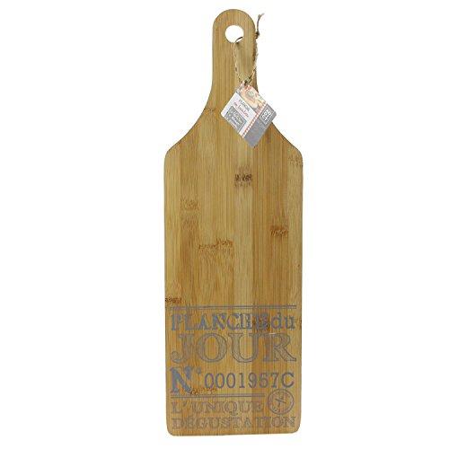 Planche à fromage bois rectangulaire inscriptions bleus