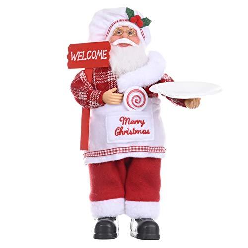 Groust Figura decorativa de Papá Noel de pie, adorno perfecto para la oficina en casa, 30 x 20 cm, 4 modelos diferentes a elegir