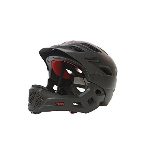 GPFDM Kids Bike Helmet,Child Detachable Full Face Helmet,Breathable Ultralight,Adjustable Cycling Helmet,Children Protective Gear,Black,S