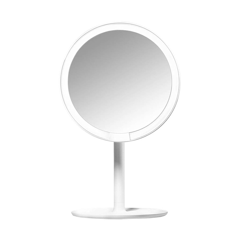 必要性洗剤日付付きBOZHIJPD LEDの化粧鏡 - USBの充満、折る化粧品ミラーを照らす自然なLED 化粧台、ホテル