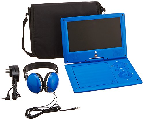 """JBL 9"""" Portable DVD Player with Matching Headphones and Bag"""