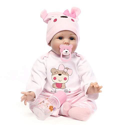 ZIYIUI DOLL Realista Renacido Muñecos Bebé Reborn Niñas Silicona Suave 22 Inch 55cm Recién Nacido Simulación Juguetes