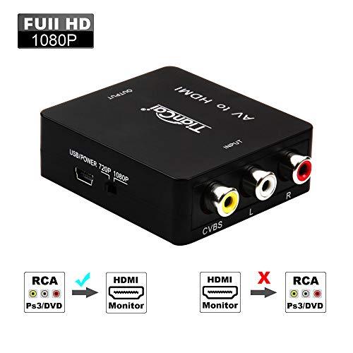 Tiancai RCA HDMI, 1080P Compuesto CVBS AV HDMI Adaptador