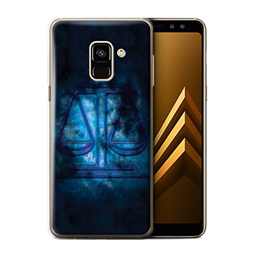 Stuff4®®®®®®®®®®®®®®®®®®®®®®®®®®®®®® Phone Case/Cover/Skin/SGA-CC/Zodiac Star Sign Collection Samsung Galaxy A8 2018 Weegschaal/libra.