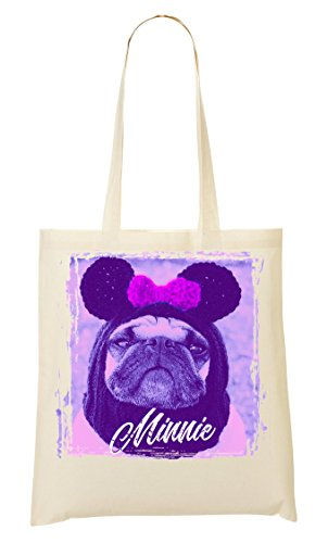 Beautiful Babe Minnie Pug | Animal Collection | Cool T-shirt | Nice To | Super | Osom | Popular Mouse | Yolo Swag draagtas boodschappentas