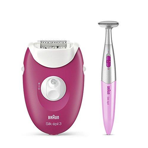 Braun Epilierer Silk-épil 3-420 depiladora, Plástico, 2 Velocidades, Rosa, Blanco