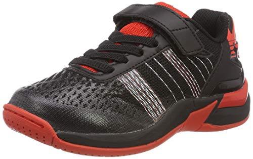 Kempa Unisex-Kinder Chaussures De Handball Handballschuhe, Schwarz (Noir/Rouge Phare 000), 35 EU