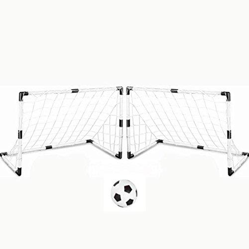 Tosbess Lot de 2 Soccer Cage-But de Foot- Détachable Portable Soccer Goal - Enfants Cage de Football Intérieur et Extérieur