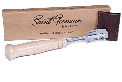 SAINT GERMAIN Premium Hand Crafted Bread Lame with 6 Blades Included - Best Dough Scoring Tool with...