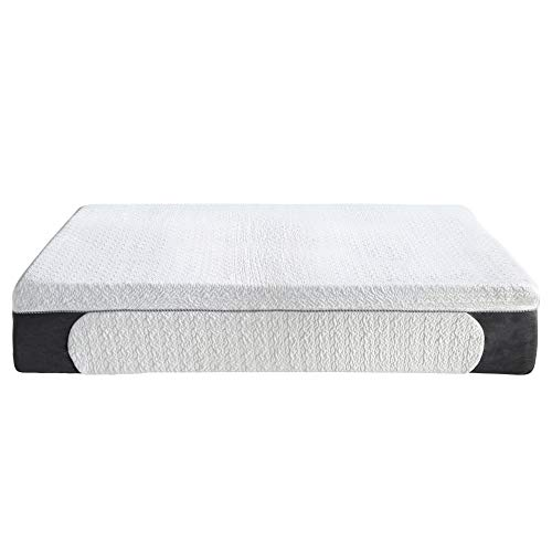 Classic Brands Cool Gel 1.0 Ultimate Gel Memory Foam 14-Inch Mattress with BONUS 2 Pillows, King