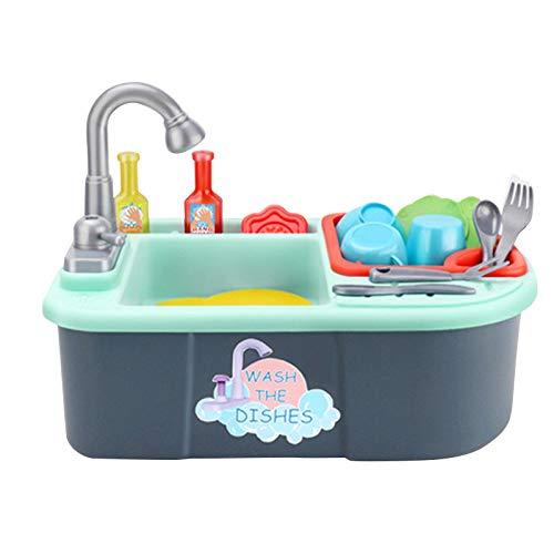 letaowl Küchenspielzeug Kinder Geschirrspüler Spielzeug Haus Recyceltes Wasser Waschbecken Küchengeschirr Kinder Intelligentes Spielzeug Küchensimulation