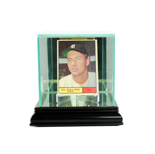 Perfect Cases MLB Single Card Glass Display Case, Black
