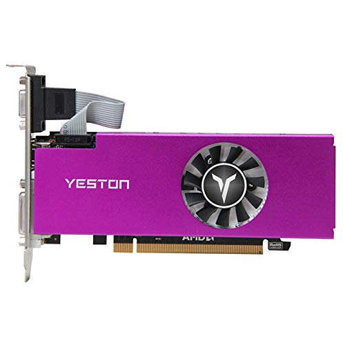 Festnight Yeston RX560-4G D5 LP-Grafikkarte Gaming-Grafikkarte 1200 / 6000MHz 4G / 128bit / GDDR5-Speicher VGA + HDMI + DVI-D-Ausgangsanschlüsse