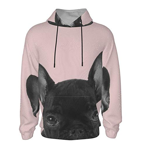Blush Pink Frenchie Pop Throw Pillow Teen Hooded Sweate Boys Girls Pullover Hoodies Hooded Seatshirts Sweaters