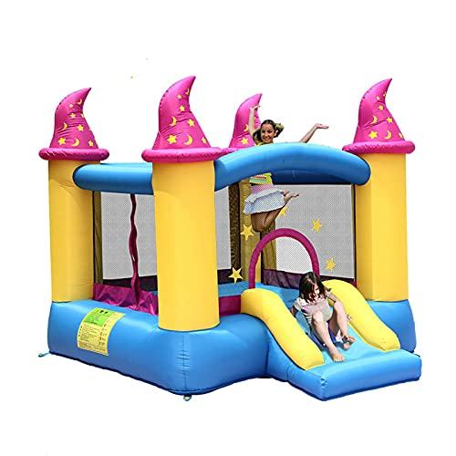 LGLE Castillo hinchable para niños, tobogán acuático inflable para niños, trampolín inflable para interiores y exteriores, cuadrado para niños, 279 x 236 x 213 cm,