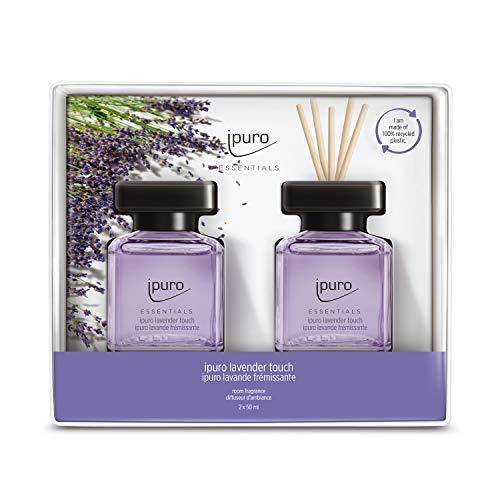 ipuro Essentials Raumduft lavender touch 2x50ml – hochwertiger Lufterfrischer - Raumduft-Set für ein sanft-frisches Raumklima – umweltfreundliches Design