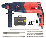 IBELL RH26-26, SDS-Plus, 26MM, 780W 3 Functions Heavy Duty Rotary Hammer Drill with Vibration Control, Chisels and Drill Bits with Case, Corded-electric