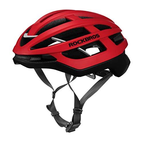 ROCKBROS Fahrradhelm Integrierter Fahrrad Helme Mountain Bike Rennrad Unisex Erwachsener für Herren Damen M (54-59cm)/L(58-63cm)