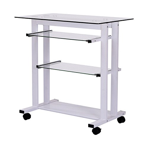 HOMCOM Computertisch Eckschreibtisch Winkelschreibtisch Schreibtisch Bürotisch PC Tisch, Verschiedene Modelle (Modell 5/Weiß)