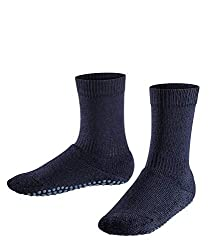 FALKE Children's Stop Socks Catspads - Cotton Blend, 1 Pair, Blue (Dark Navy 6370), Size: 27-30