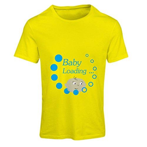 Vrouwen T-shirt baby wordt geladen, wachten - geboorte aankondiging ideeën