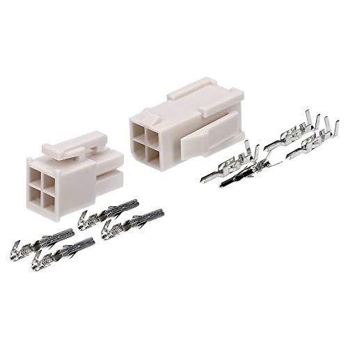 Molex Mini-Fit Jr. Steckverbinder-Set 4 polig für PC-Komponenten Kali-2404 I Industriequalität vom deutschen Händler