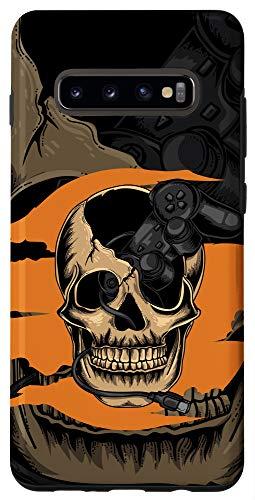 Galaxy S10+ Joystick Console Skull Skeleton Player Nerd Gaming Gift Case