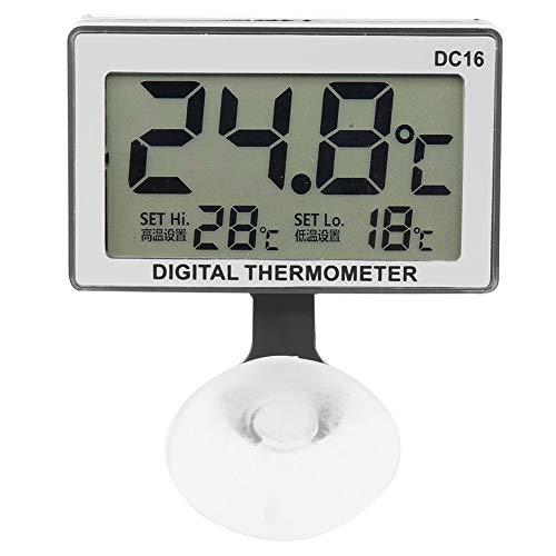 ワイヤレス水温計、自動警報水族館温度計、水温測定用デジタル防水水族館温度測定