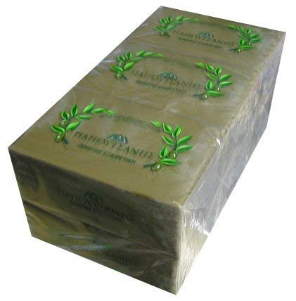 Greek Olive Oil Soap from Renowned Papousanis Olive Oil Soap (6 Pack of 250 Grams Each)